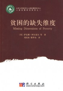 Mandarin Chinese Missing Dimensions of Poverty Book Cover